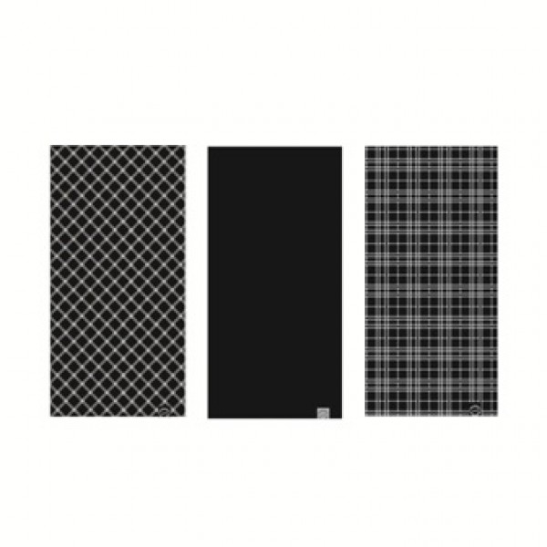 OXC Neckwear Comfy Black&White Tartan 3-Pack